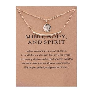 4 for $25 curved bar yoga necklaces